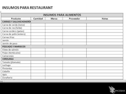 software para inventarios curso para restaurantes youtube