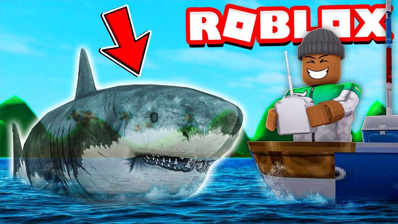 *NEW* Playing As A Scary GHOST SHARK in Roblox SharkBite! (Halloween Update) thumbnail