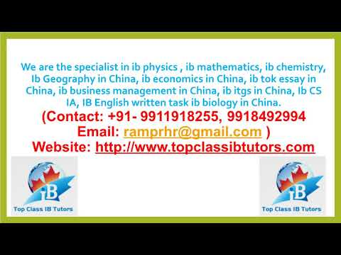IB Chemistry IA Extended Essay Home Tutor and Assignments in China Beijing