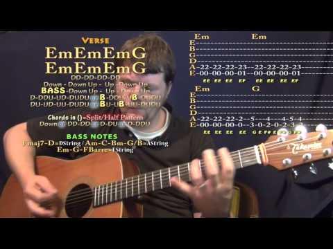 Enter Sandman (Metallica) Guitar Lesson Chord Chart