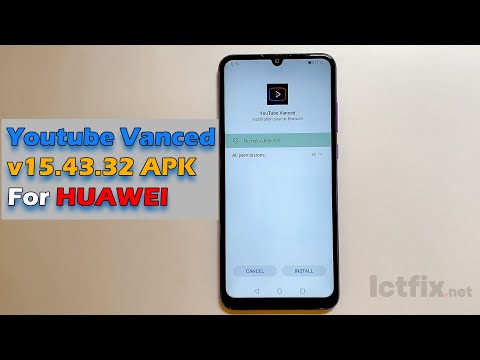 Download Youtube Vanced v 15.43.32 APK for Huawei devices NOT Google Play Store