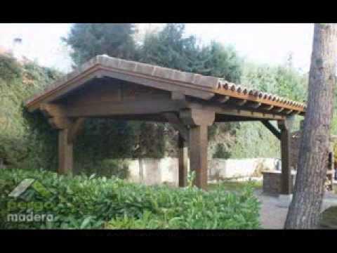 Cenadores de madera pergomadera youtube - Cenadores de jardin ...