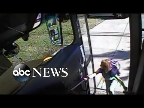 Video shows student's close call with out-of-control car   ABC News