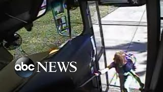 Video shows student's close call with out-of-control car | ABC News
