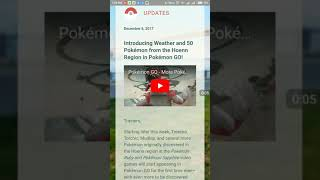 GEN 3 THIS WEEK | LOCAL WEATHER IMPACTS IN POKEMON GO