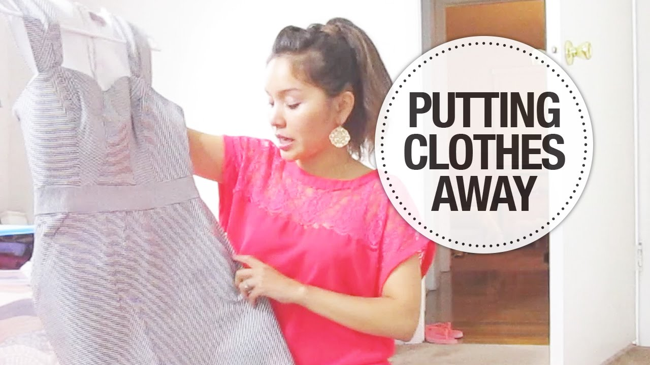 Put Clothes Away ~ Vlog filming putting clothes away youtube