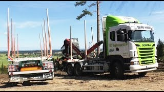 Scania  Timber Truck Turning