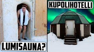 Matkustin Lappiin lumihotelliin!