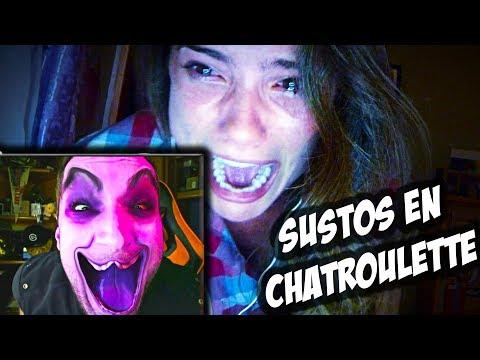 ASUSTANDO Y TROLLEANDO A GENTE EN CHATROULETTE - Scary PRANKS