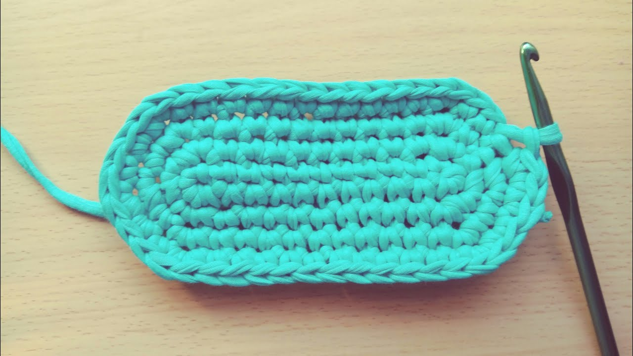 Crochet Oval Bag Base Tshirt Yarn Youtube