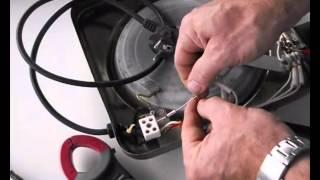 Reparación de resistencia eléctrica placa de cocina, fusible térmico fundido.