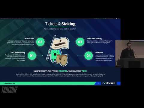 TABConf 2019 - Introduction to the Decred Cryptocurrency and its Community - Josh Buirski