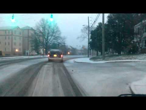 2013 Snow Storm in Cambridge Maryland USA