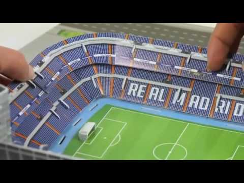 puzzle 3d stadion santiago bernab u real madrid cf nanostad trefl youtube. Black Bedroom Furniture Sets. Home Design Ideas