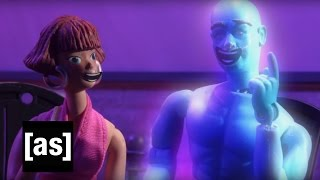 Dr. Manhattan Cuts Loose | Robot Chicken | Adult Swim