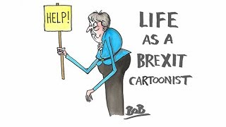 Gambar cover Behind the Brexit scenes with Telegraph cartoonists Matt Pritchett and Bob Moran