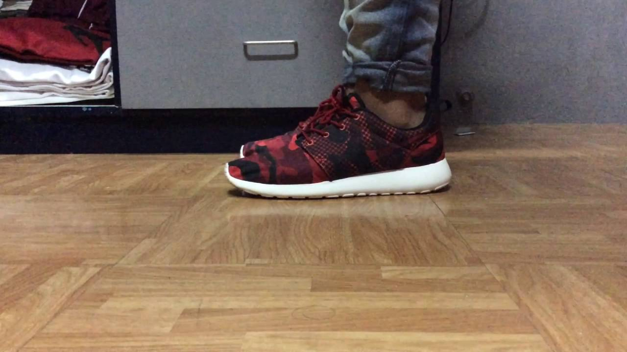 Fashion week Roshe Nike run camo on feet pictures for woman
