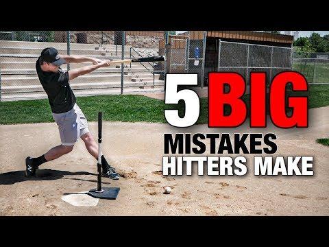 5 BIG Mistakes Hitters Make (AVOID THESE!!) - Baseball Hitting Tips