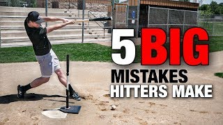 5 BIG Mistakes Hitters Make (AVOID THESE!!) - Baseball Hitting Tips