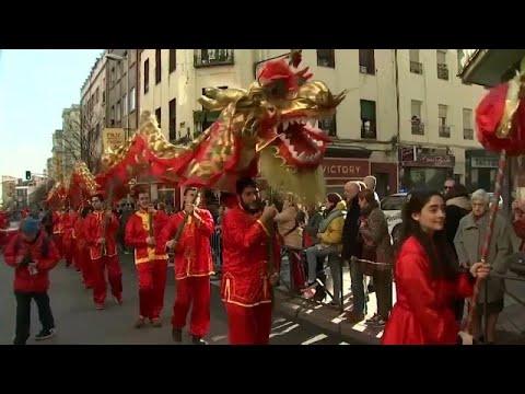 La comunidad china en España da la bienvenida al año de la rata con preocupación por el co…