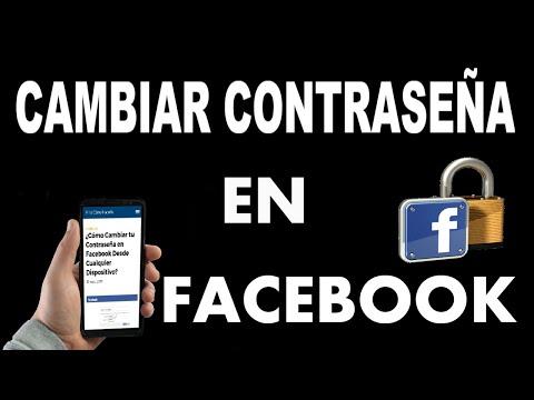 ¿Cómo Cambiar tu Contraseña en Facebook? | Cualquier Dispositivo