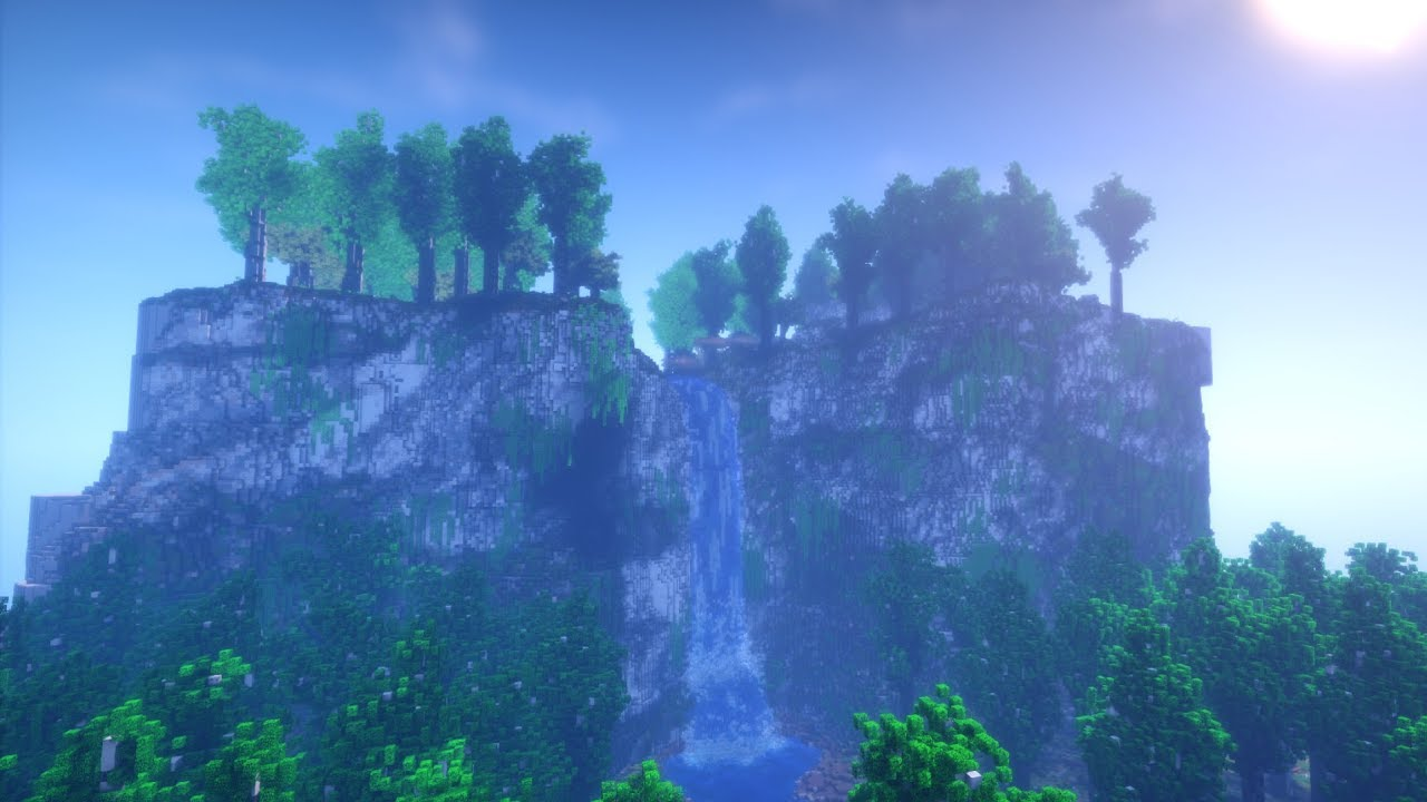 Free Fall Tree Wallpaper Minecraft Timelapse Realistic Waterfall Youtube