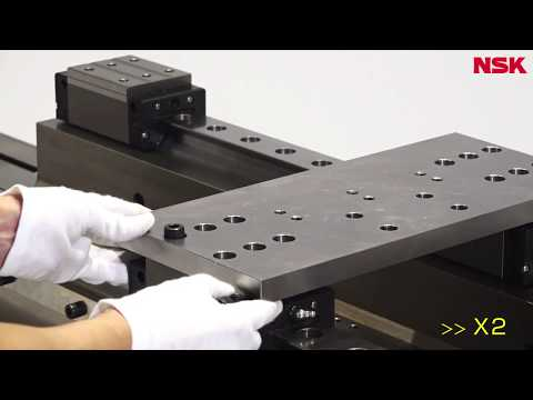 How to install NSK Linear products  1. Linear Guide / NSK直動製品の取付け  1.リニアガイド編
