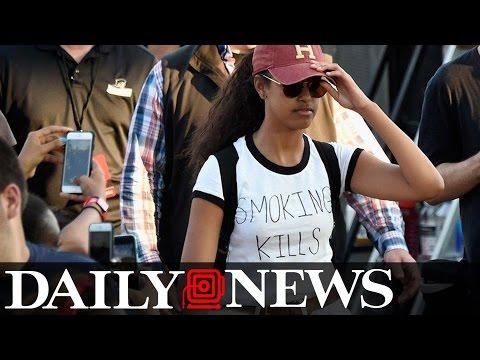 Malia Obama spotted in 'Smoking Kills' T-shirt