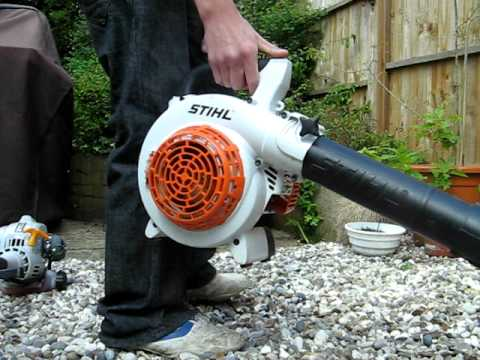 Stihl sh85 blower vac ryobi 30cc strimmer and rockworth - Is it bad to run a generator out of gas ...
