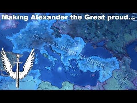 Beating the Axis as Greece (Hoi4 Speedrun/Timelapse)