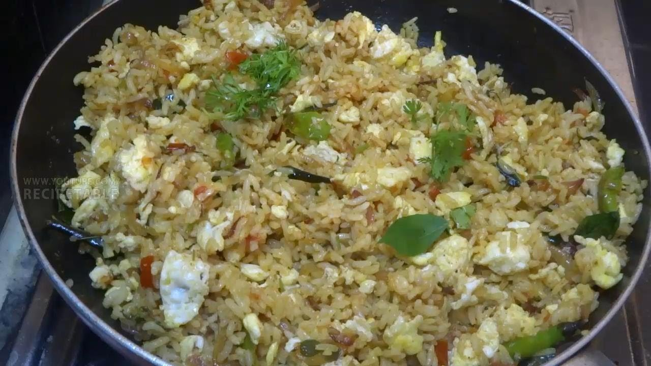 Quick and Easy Egg Fried Rice in Telugu - YouTube