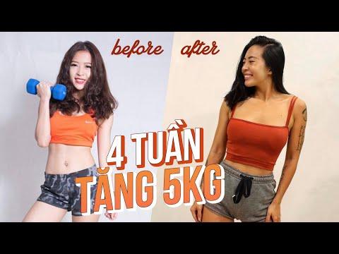 4 TUẦN TĂNG CÂN (BÀI TẬP + THỰC ĐƠN) | 150 calories | Workout #171