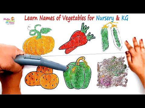 #Learn #Names of Vegetables #Nursey & KG #DIY Glitters