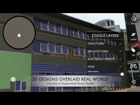 Augmented Reality for Construction and Industrial Workers - Prototype Reel 2 of 2 | Shapetrace