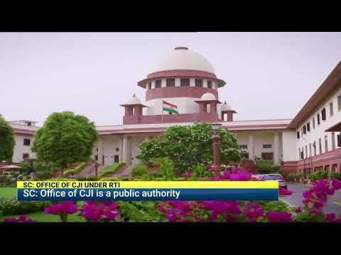 Office of Chief Justice of India falls under RTI, says Supreme Court