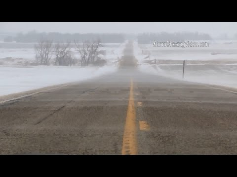Western Minnesota Intense Winds And Blowing Snow - 2/7/2016