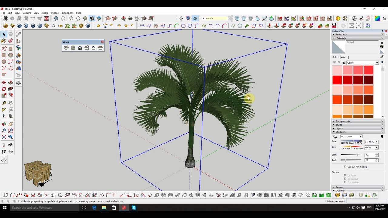 how to add textin sketchup