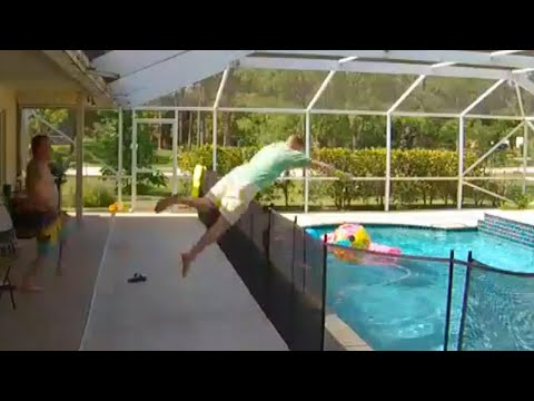 Angie Ward - Father Makes 4 Foot Dive Over Fence To Save Toddler In Pool