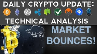 Daily Crypto Update (10/29/17) MARKET BOUNCES! + Technical Analysis