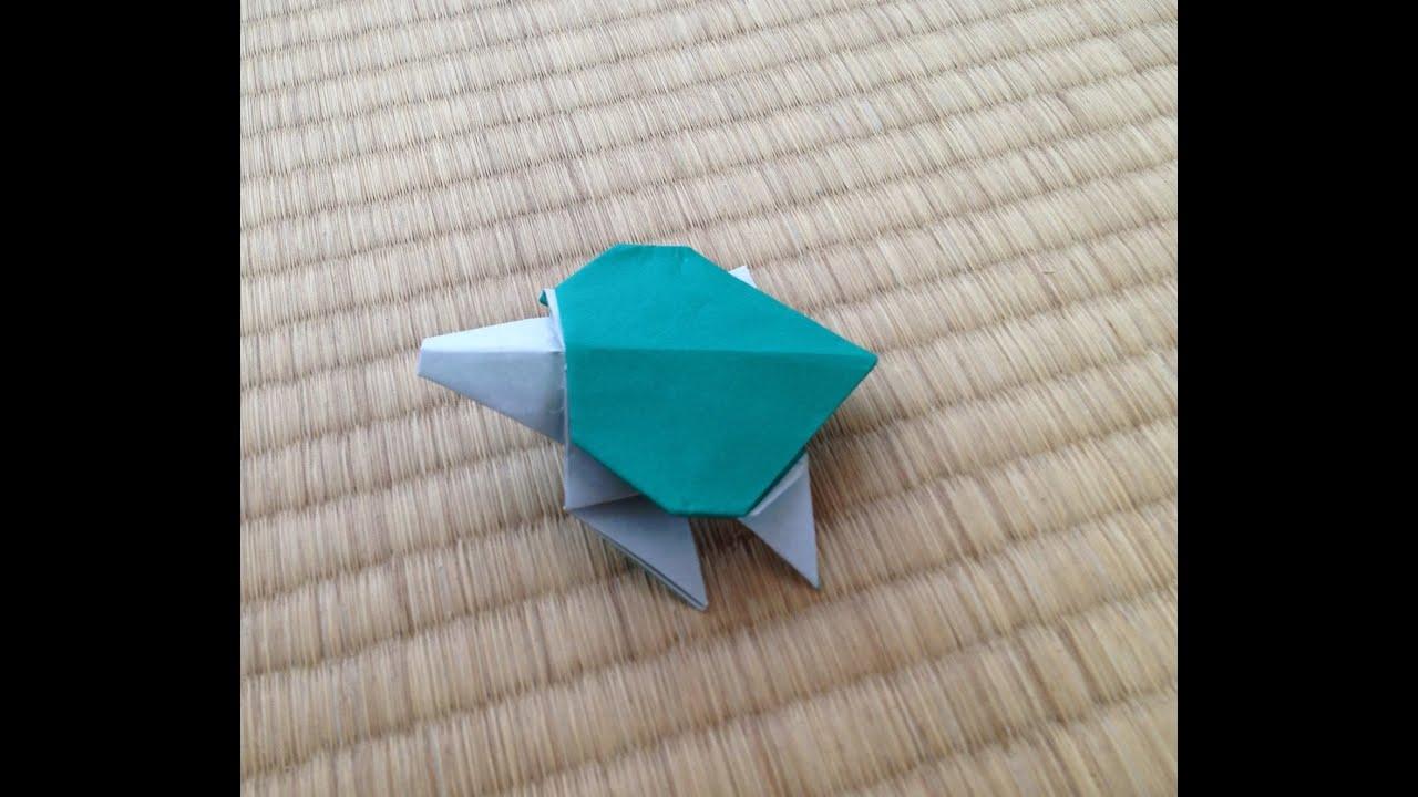 折り紙 亀 折り方 作り方 ... : 折り紙の折り方 動画 : 折り紙の