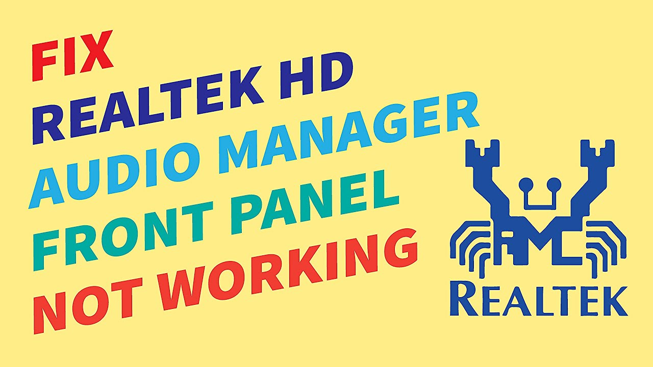 How to enable front panel in Realtek HD audio manager