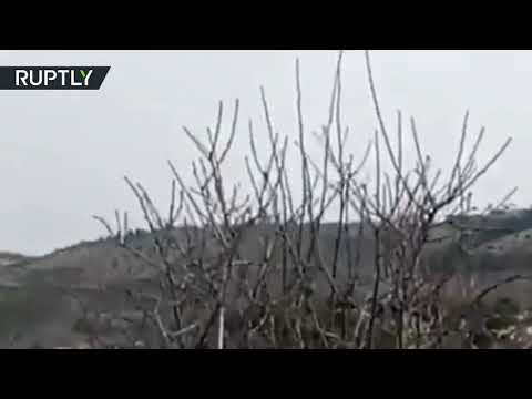 RAW: Footage reportedly shows moment Turkish helicopter crashes amid Afrin operation