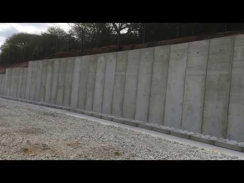 Precast Concrete Installation of Retaining Wall