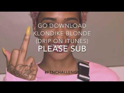 Klondike Blonde Drip-CLEAN VERSION- #FTNchallenge UNOfficial IG Video   BIG Gang (clean version)