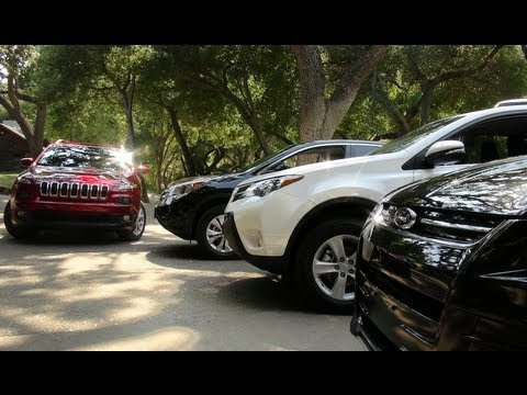 jeep cherokee  toyota rav  ford escape  honda cr  mashup review youtube