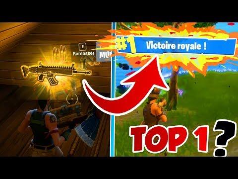 LE NOOB LE PLUS CHANCEUX DU MONDE (Arme LÉGENDAIRE) VA T-IL FAIRE UN TOP 1 FORTNITE ?! Battle Royale