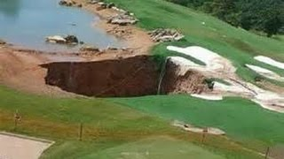 Large sinkhole opens at golf course in Missouri