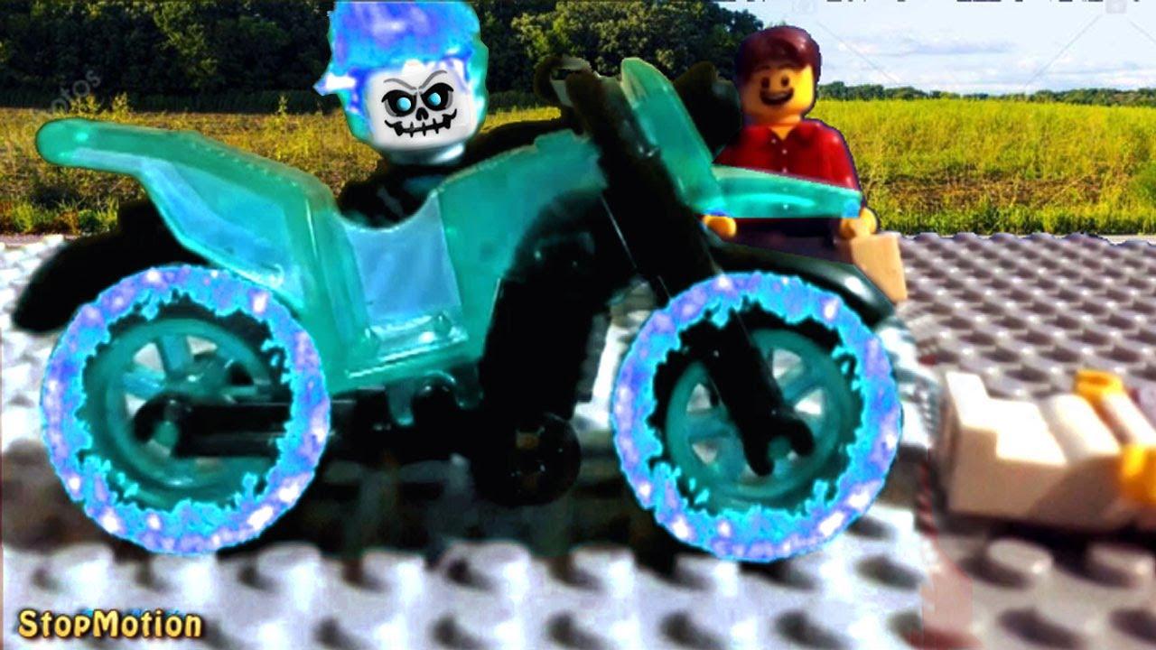 Lego Angel Rider Stop Motion - Bike Transformation