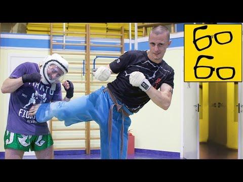 Уширо-гери в кудо с Василием Глебовым — как применять в бою удар ногой с разворота (вертушку)