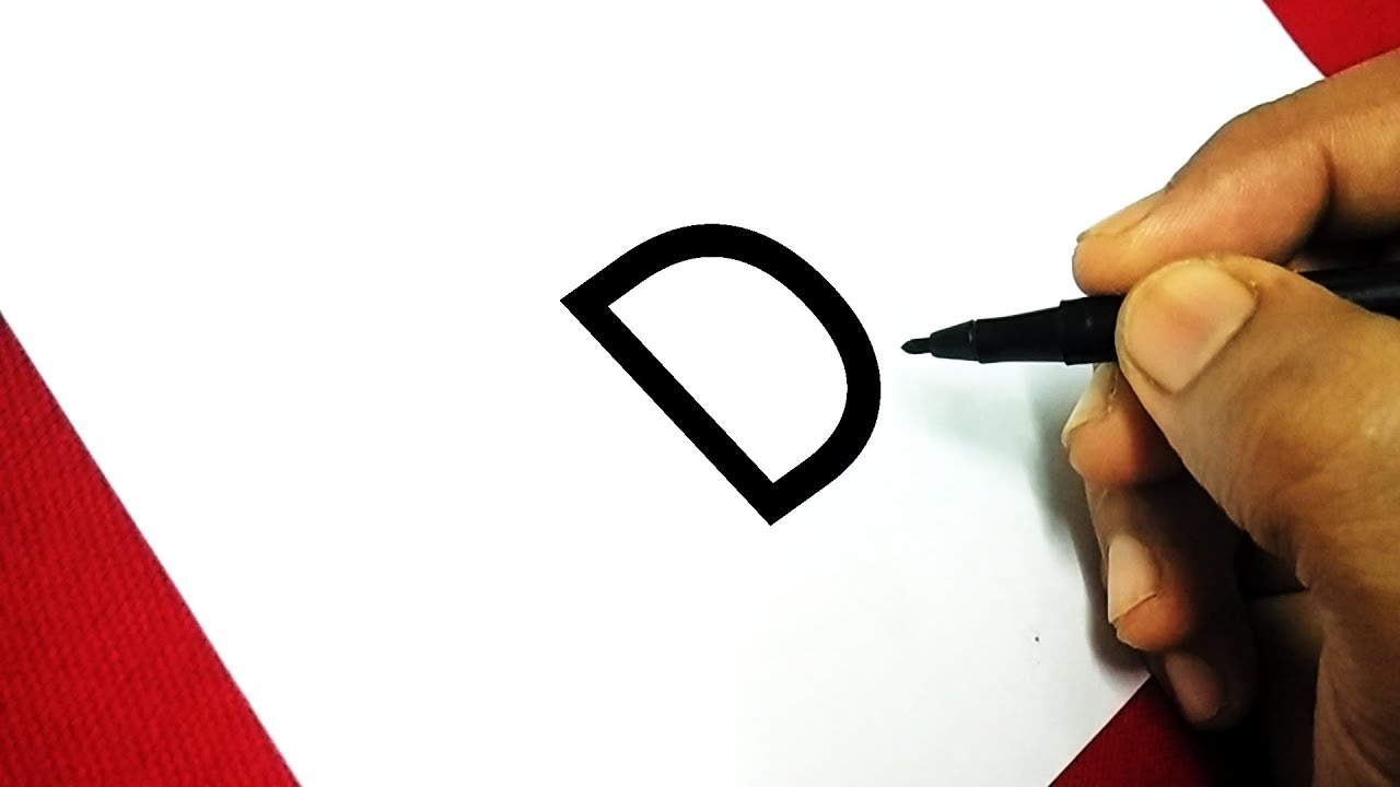 Easy Drawing Tutorials For Kids With Letter D Drawing Characters For Kids Ds Art Hub